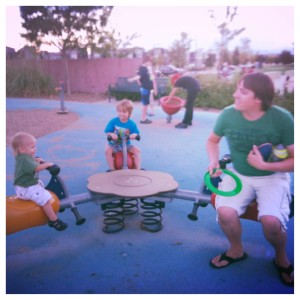 Daddy Playing with his Boys