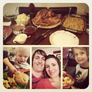 Homemade Thanksgiving Dinner in Denver, Colorado