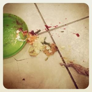 Thanksgiving Dinner on the Floor