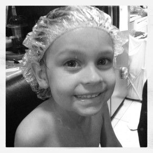 Start of the Lice Treatment, Olive Oil Head