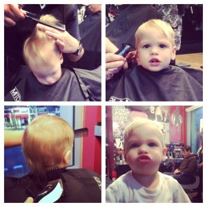 Kalvyn Getting His 1st Haircut