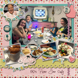 Eating at 50's Prime Time Cafe