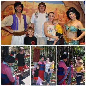 Mulan, Aladdin, and Jasmine