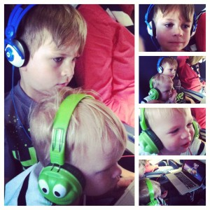 Watching Frozen on the Plane Ride Home