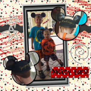 My Boys with their Mickey Ears