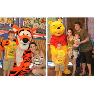 Meeting Pooh and Tiger