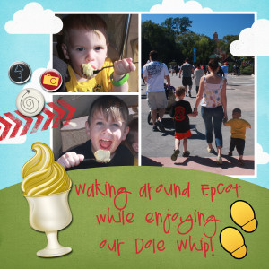 Walkin Around Epcot Eating Dole Whip