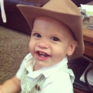 Kalvyn with his Cowboy hat on